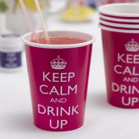 Keep Calm And Drink Up Paper Cups (8)
